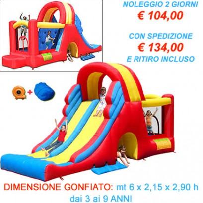MEGA SCIVOLO - Castello gonfiabile con scivolo gonfiabile grande