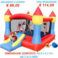 Noleggio Gonfiabile Castello XXL - Castello Gonfiabile con la più ampia superficie gonfiabile per saltare