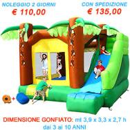 Noleggio gonfiabile Super Scivolo Giungla - ESCLUSIVA Cacao Baby Party.