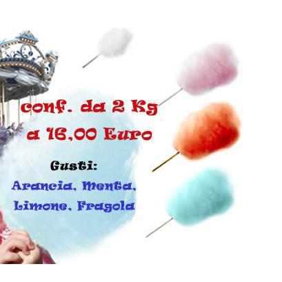 Aromi per lo zucchero filato - Semilavorato di zucchero vari gusti