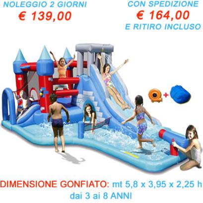Noleggio Gonfiabile Acquatico Splash Park