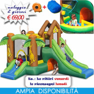 Noleggio gonfiabile Cangurotto - ESCLUSIVA Cacao Baby Party - Castello gonfiabile con scivolo gonfiabile di medie dimensioni