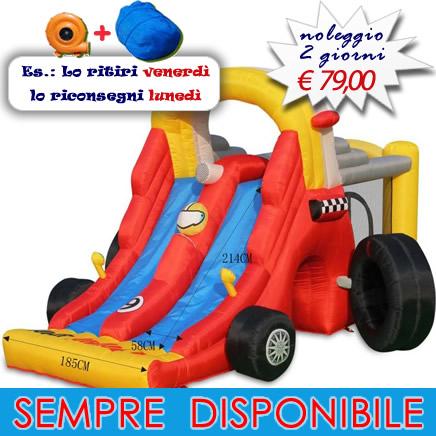 FORMULA 1 - SCIVOLO GONFIABILE - GIOCO GONFIABILE PER BAMBINI n0