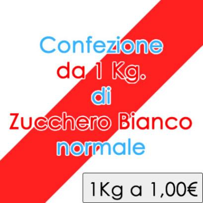 Zucchero BIANCO normale - confezione da 1 Kg a 1,00 €