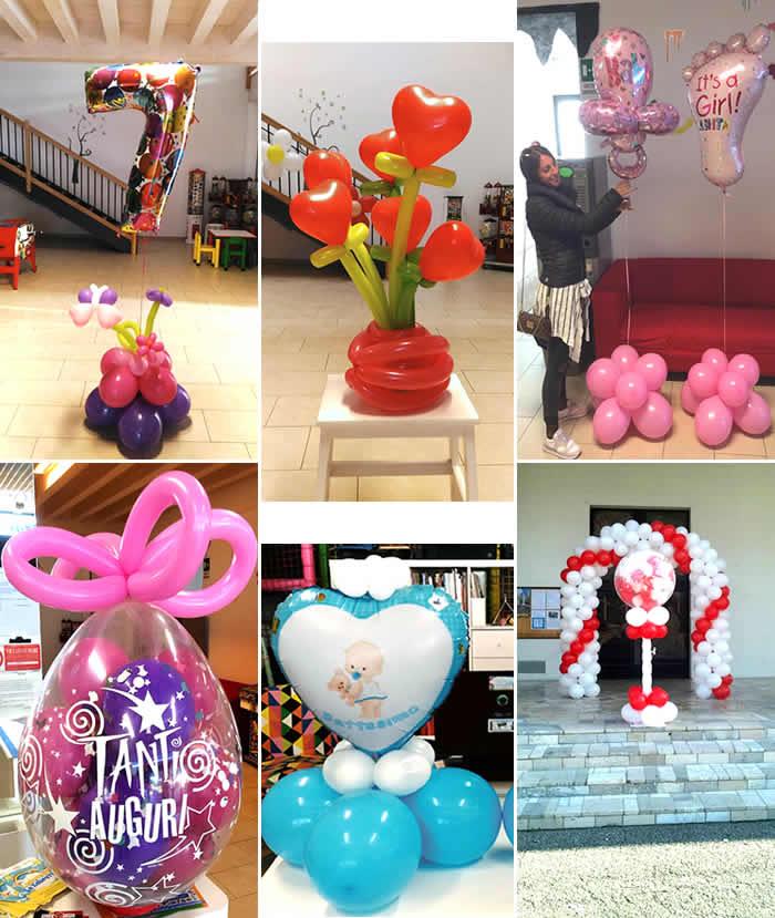 Palloncini numerali ad aria o elio - composizioni di palloncini - accessori festa - pignate - accessori matrimonio cerimonie - sparacoriandoli - candeline in cera e piriche