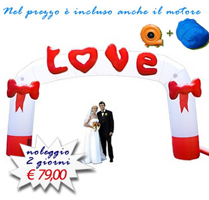 ARCO GONFIABILE LOVE FOTO GRANDE