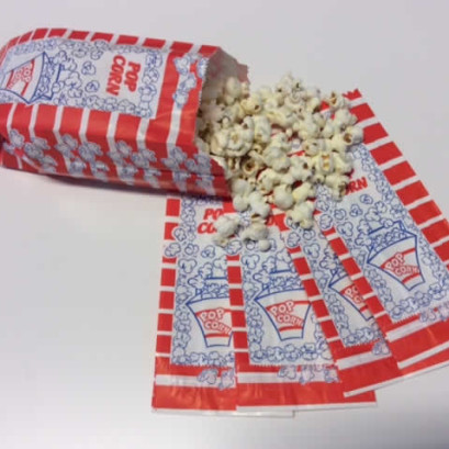 Offerta sacchetti per Pop Corn - Simpatici sacchetti per pop corn cm H.19 x L.8 x 5 in carta alimentare