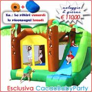 Noleggio gonfiabile Super Scivolo Giungla - ESCLUSIVA Cacao Baby Party