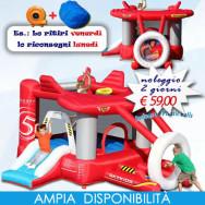 Noleggio New AirPlane - Gonfiabile Salterello con vaschetta palline e scivolo