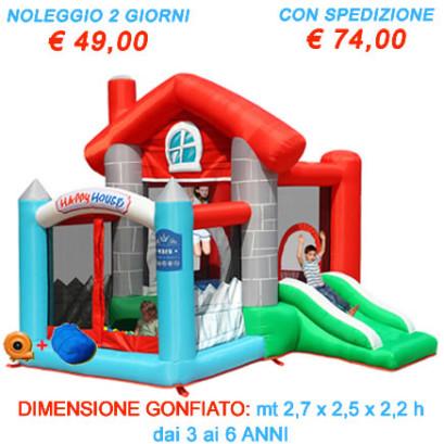 Noleggio Castello Salterello Gonfiabile Happy Casa