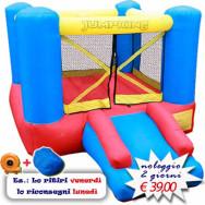 Affitto-Noleggio Gonfiabile Bounce House Slide misure 182 x 270 x 152h cm - Castello con scivolo gonfiabile piccolo