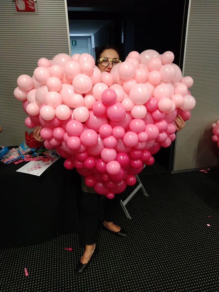 composizioni palloncini a cuore