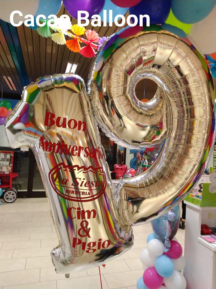 palloncini attività commerciali - 19 anni di attività Siesta