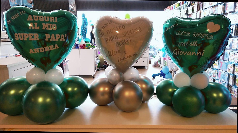 palloncini festa del papà centro tavola