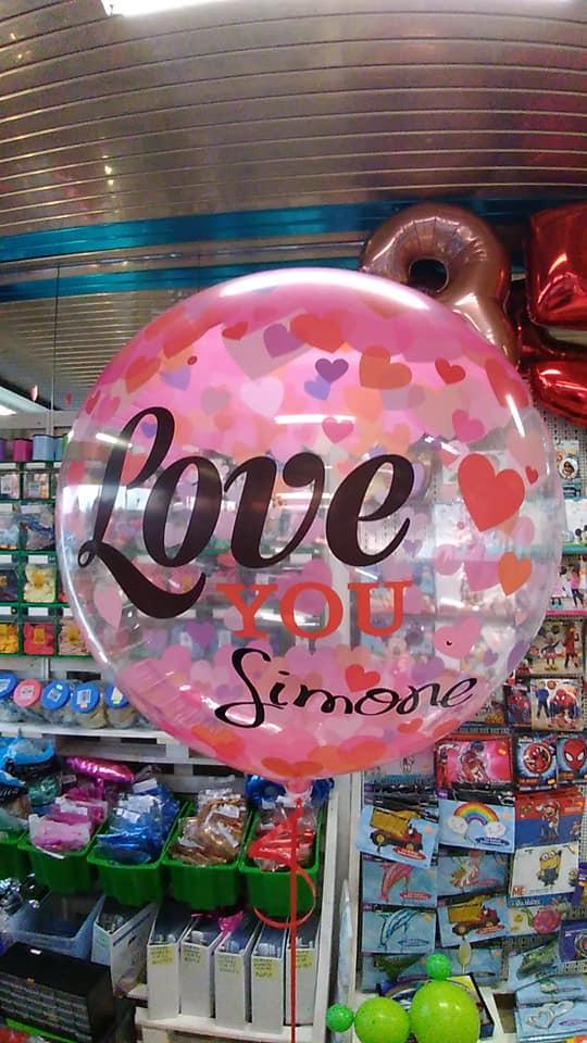palloncino bubble San Valentino