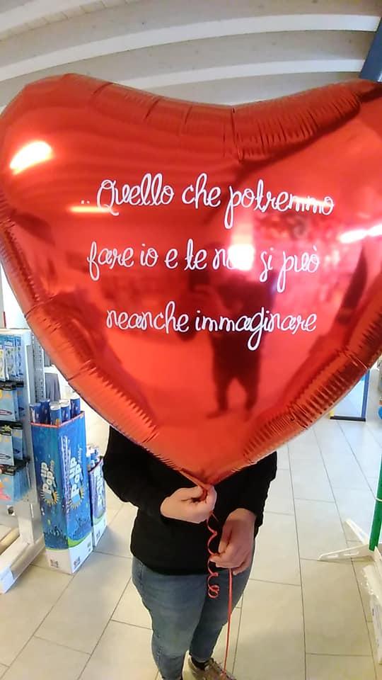 palloncino cuore grande San Valentino personalizzato