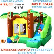 OFFERTA noleggio Super Scivolo Giungla - Scivolo Gonfiabile Grande