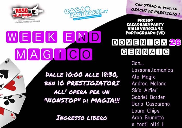 banner fine settimana magico-domenica 26 GENNAIO 2020 Cacao Baby Party
