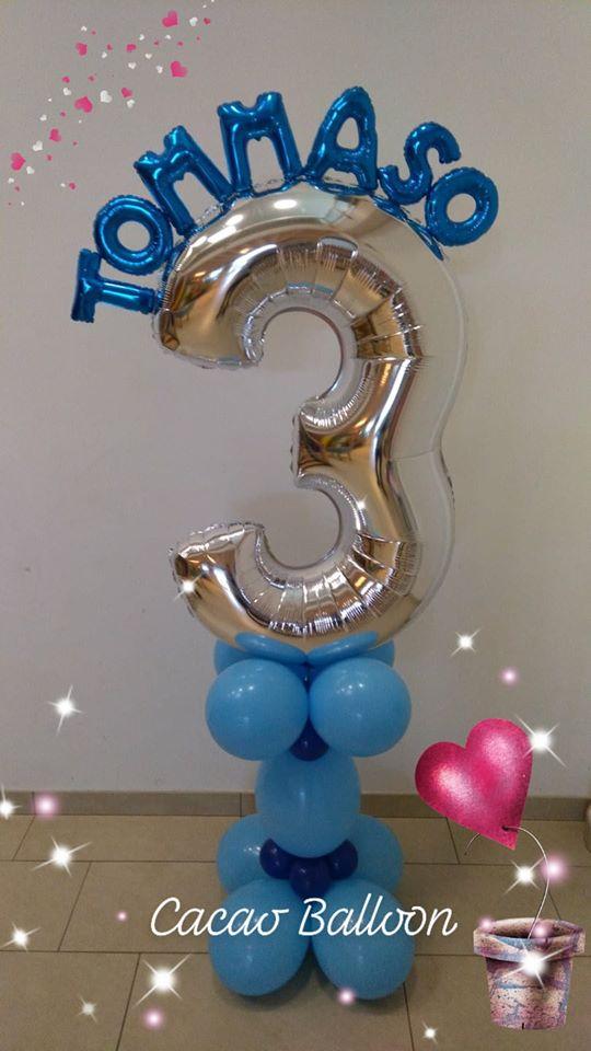 palloncini compleanno - 3 anni colonna