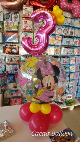 palloncini compleanno - 3 anni minnie
