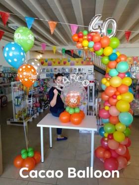 composizioni palloncini compleanno - 40 anni