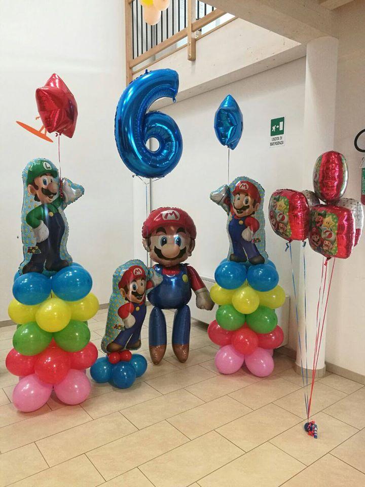 palloncini compleanno - supermario vari
