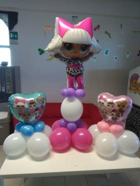 palloncini compleanno lol con centro tavola