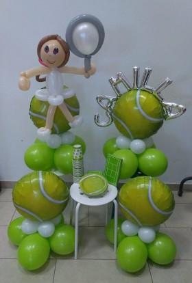 palloncini compleanno - tennis più accessori