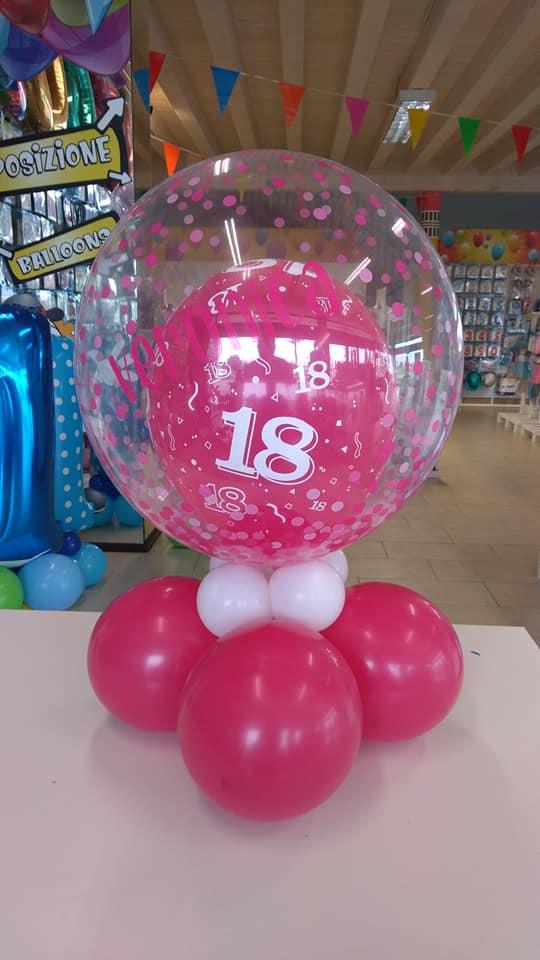 palloncini 18 anni centro tavola bubble