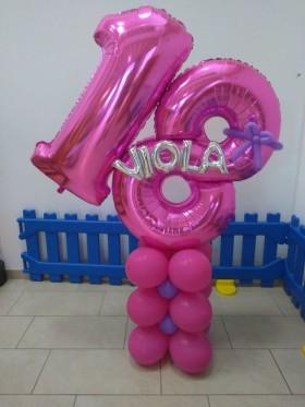 palloncini 18 anni con base alta