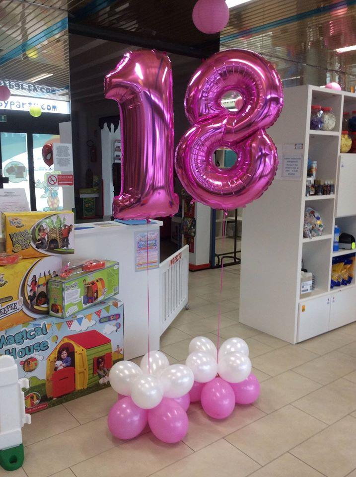 palloncini 18 anni numeroni elio fuxia
