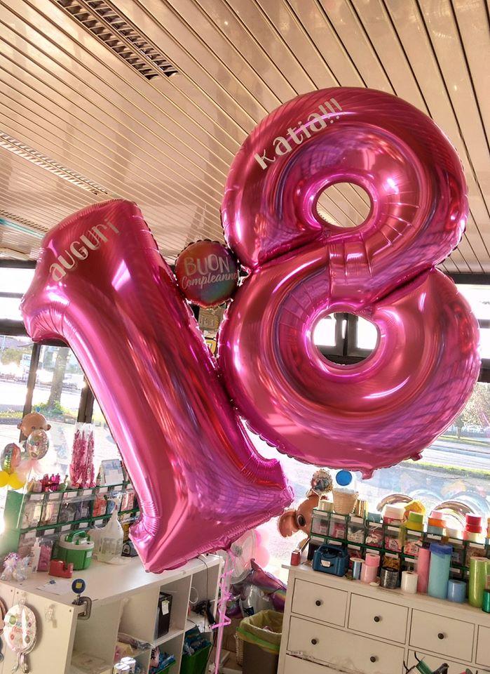 palloncini 18 anni numeroni elio