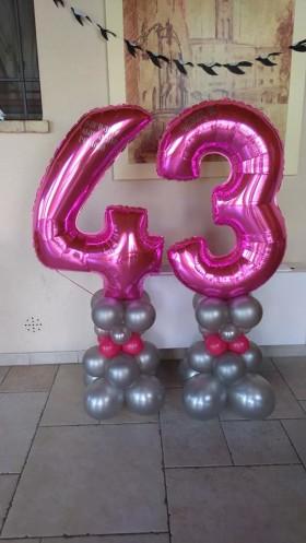 palloncini compleanno - 40 anni colonna con personalizzazione
