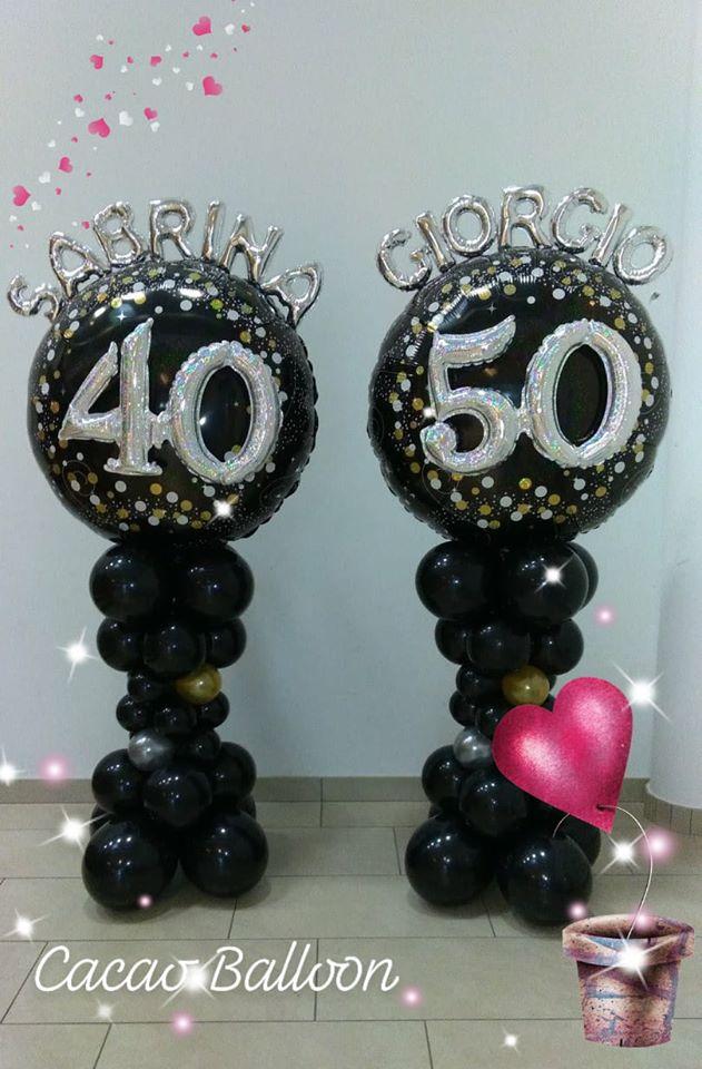 palloncini compleanno - 40 e 50 anni colonna