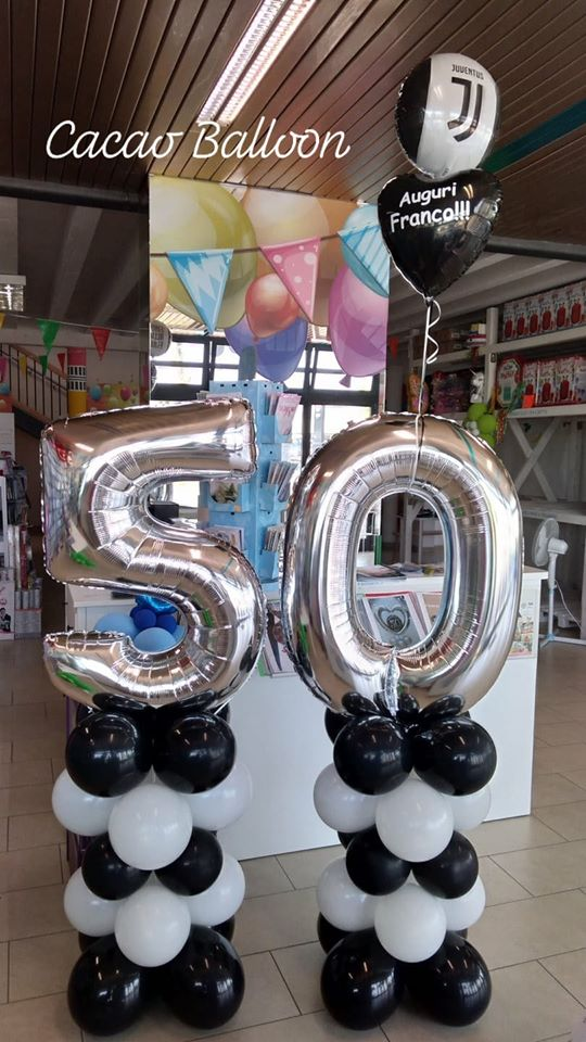 palloncini compleanno - 50 juventus