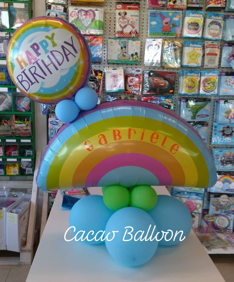 palloncini compleanno - arcobaleno