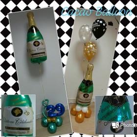 palloncini compleanno - bottiglia personalizzati