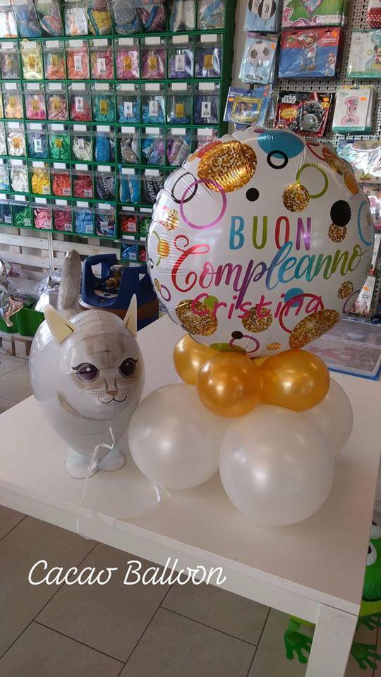 palloncini compleanno - gatto