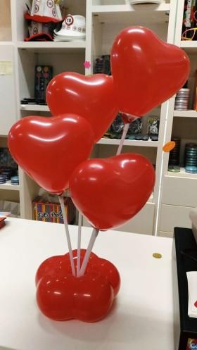 palloncini cuore centro tavola