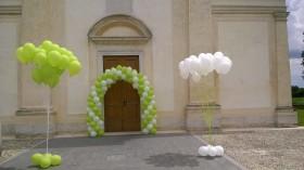 palloncini matrimonio colonne più arco