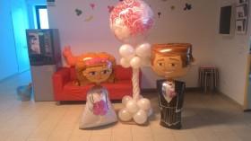palloncini matrimonio con sposi