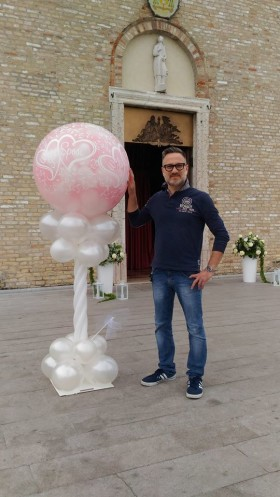 palloncini mongolfiera esplosiva matrimonio a