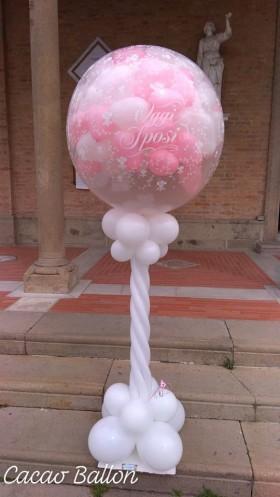 palloncini mongolfiera esplosiva matrimonio rosa