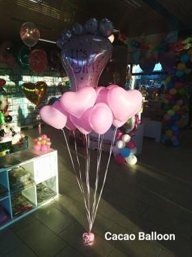 palloncini nascita a forma di cuore