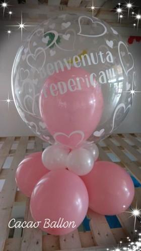 palloncini nascita con nome di bimba