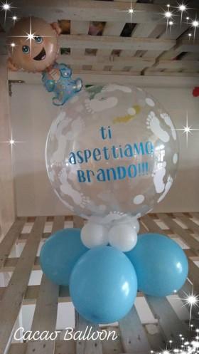 palloncini nascita con scritta nome