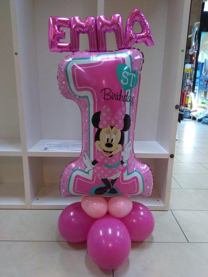 palloncini primo compleanno topolina bimba