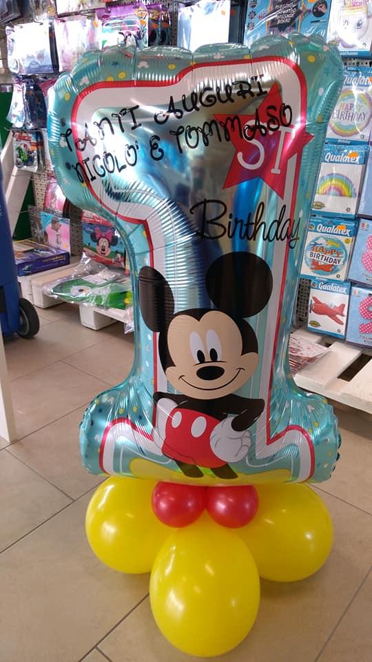 palloncini primo compleanno topolino