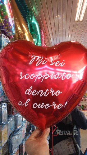 palloncino cuore elio personalizzato