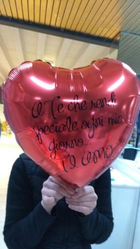 palloncino cuore medio San Valentino personalizzato
